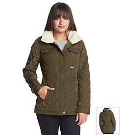 MICHAEL Michael Kors® Quilted Anorak With Sherpa Lined Collar