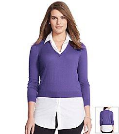 Lauren Ralph Lauren® Plus Size Layered Sweater