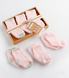 Baby Aspen® 3-Pair Cozy Chenille Socks Set