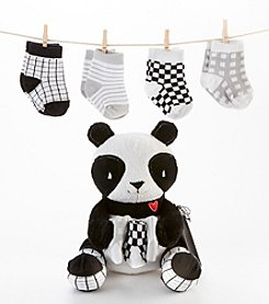 Baby Aspen Panda Paws Plush with Socks for Baby