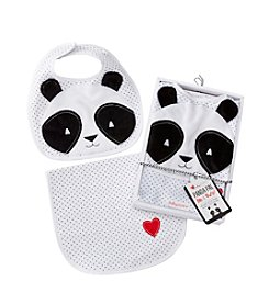 Baby Aspen® Panda Pal Bib & Burp Set