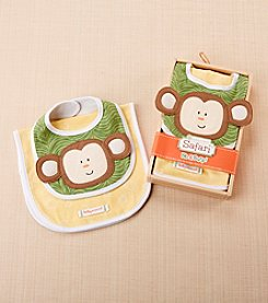 Baby Aspen Safari Bib & Burp Set