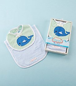 Baby Aspen® Deep Sea Bib & Burp Set