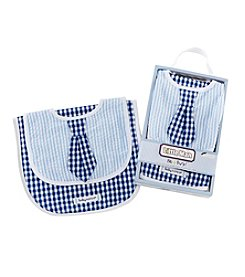Baby Aspen® Little Man Bib & Burp Set