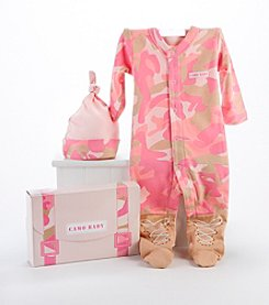Baby Aspen 2-Piece Big Dreamzzz Baby Camo Layette Set with Gift Box