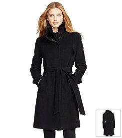 Lauren Ralph Lauren® Cashmere Wool Blend Belted Zip Front Coat