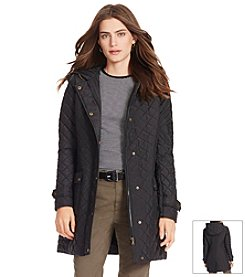 Lauren Ralph Lauren® Three-Quarter Hooded Rail Quilt Coat