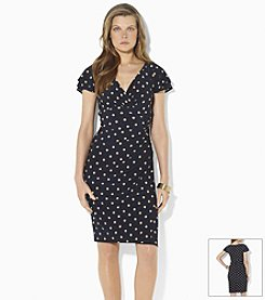 Lauren Ralph Lauren® Polka-Dot Matte Jersey Empire Dress
