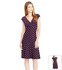 Lauren Ralph Lauren® Polka-Dot Paneled Jersey Dress