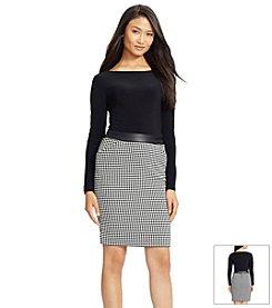 Lauren Ralph Lauren® Houndstooth Combo Dress
