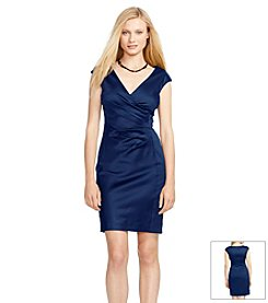 Lauren Ralph Lauren® Stretch-Satin Surplice Dress