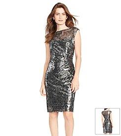 Lauren Ralph Lauren® Sequined-Floral Dress