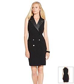 Lauren Ralph Lauren® Double-Breasted Gabardine Dress