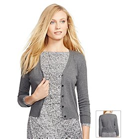 Lauren Ralph Lauren® Cotton V-Neck Cardigan
