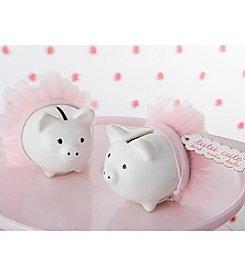 Kate Aspen Set of 12 Tutu Cute Ceramic Mini-Piggy Bank