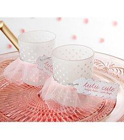 Kate Aspen Set of 12 Tutu Cute Glass Votive