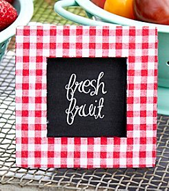 Kate Aspen Set of 12 Red Gingham Print Photo Frame