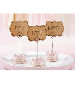 Kate Aspen Set of 12 Little Princess Crown Place Card Holder
