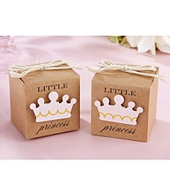 Kate Aspen Set of 24 Little Princess Kraft Favor Box