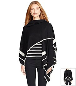 Lauren Ralph Lauren® Striped Wool Poncho