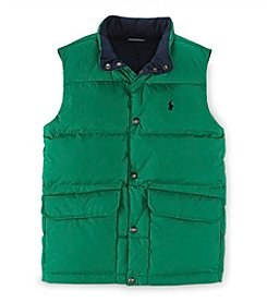 Ralph Lauren Childrenswear Boys' 2T-20 Solid Elmwood Vest