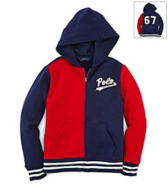 Ralph Lauren Childrenswear Boys' 2T-20 Full Zip Knit Top