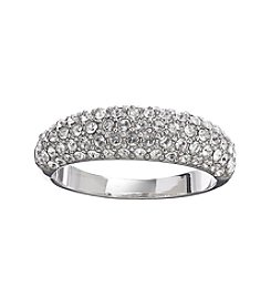Relativity® Clear Pave Silvertone Ring