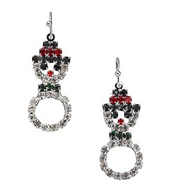 Studio Works® Multicolor And Silvertone Snowman Earrings