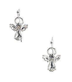 Studio Works® Silvertone Angel Earrings