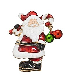 Studio Works® Goldtone Santa With Candy Cane Pin