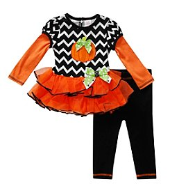 Sweet Heart Rose® Baby Girls' 3-24 Month Pumpkin Cutie Leggings Set