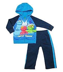Nannette® Baby Boys' 12-24 Month Sesame Street® Monster Triple Threat Hoodie Set