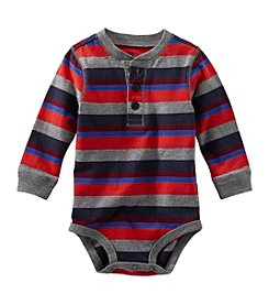 OshKosh B'Gosh® Baby Boys' 6-24M Striped Jersey Henley Bodysuit