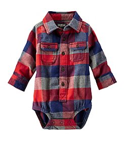OshKosh B'Gosh® Baby Boys' 6-24M Two-Pocket Flannel Bodysuit