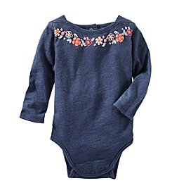 OshKosh B'Gosh® Baby Girls' Puff-Print Boatneck Bodysuit