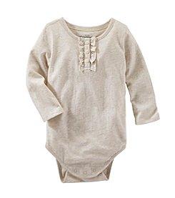 OshKosh B'Gosh® Baby Girls' 6-24 Month Long Sleeve Solid Sparkle Bodysuit