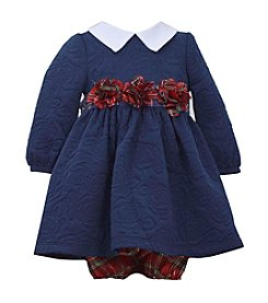 Bonnie Jean® Baby Girls' Long Sleeve Plaid Rose Dress