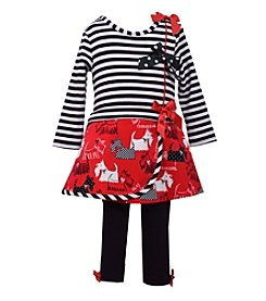Bonnie Jean® Baby Girls' 12-24M Scottie Skirt And Leggings Set