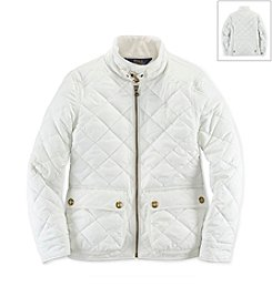 Ralph Lauren Childrenswear Girls' 7-16 Solid Quilted Jacket