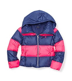 Ralph Lauren Childrenswear Girls' 7-16 Rugby Striped Jacket