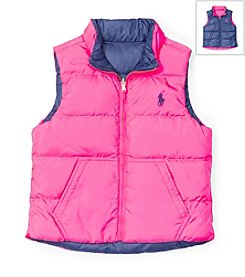 Ralph Lauren Childrenswear Girls' 2T-16 Reversible Down Vest