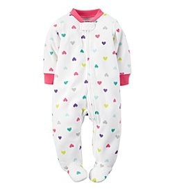 Carter's® Baby Girls' 0-9 Month Polka Dot Heart Footie