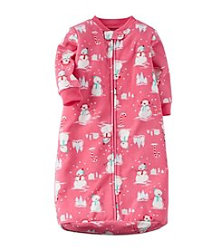 Carter's® Baby Girls' 0-9 Month Suddenly Snowmen Printed Sleeper