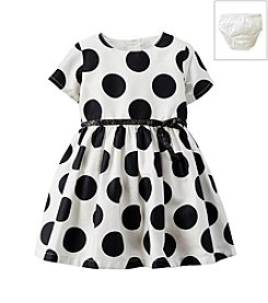 Carter's® Baby Girls' 0-24 Month Polka Dot Sateen Dress