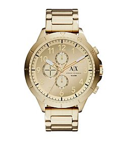 A|X Armani Exchange Men's Goldtone Stainless Steel Y Link Bracelet Watch