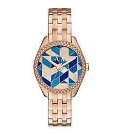 A|X Armani Exchange Women's Goldtone Stainless Steel Mosaic Watch