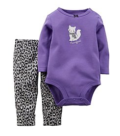 Carter's® Baby Girls' 3-24 Month 2 Piece Purrfect Print Set