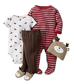 Carter's® Baby Boys' 3-24 Month 4 Piece Daring Deer Take Me Home Set