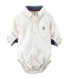 Carter's® Baby Boys' Newborn-24M Oxford Button-Front Bodysuit