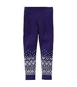 Carter's® Baby Girls' Dark Geo Fairisle Leggings